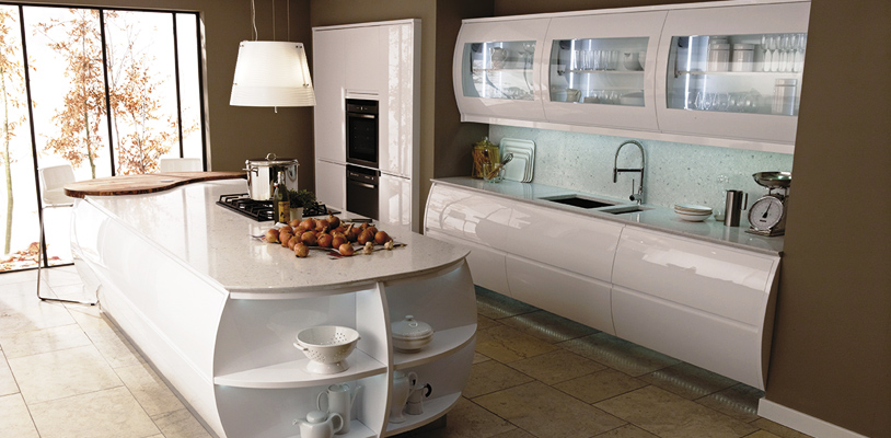 remo white barrel kitchen